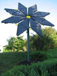 Flower inspired solar